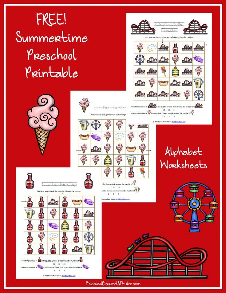 FREE Preschool Summer Pack