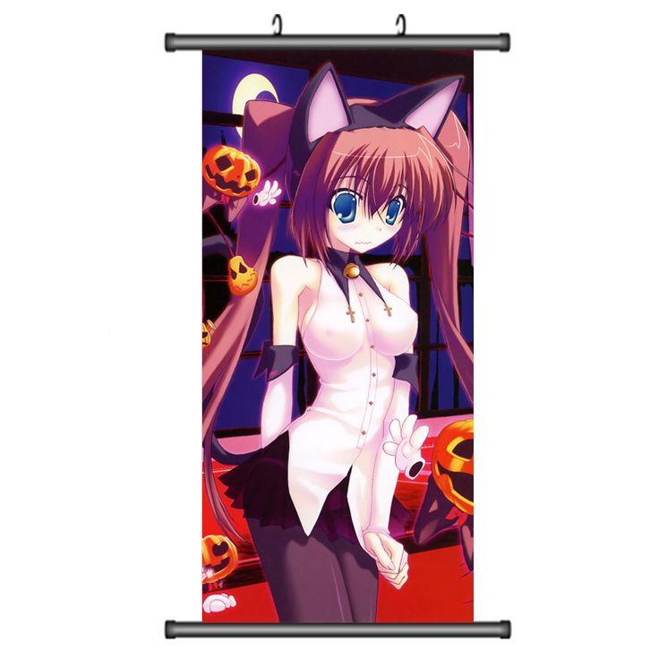 45X95 СМ Dengeki Daioh Аниме Мультфильм Мо loli камелтое милая девушка печати стены прокрутки картина росписи искусства плаката ткань, холст для живописи