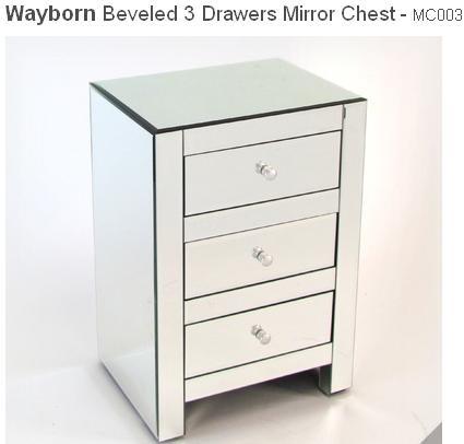 Beveled 3 Drawer Chest by Wayborn 235