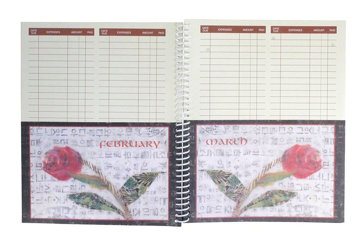AmazonSmile : Monthly Bill Paying Organizing Organizer Budget Book with Pockets - Roses : Personal Organizers : Office Products