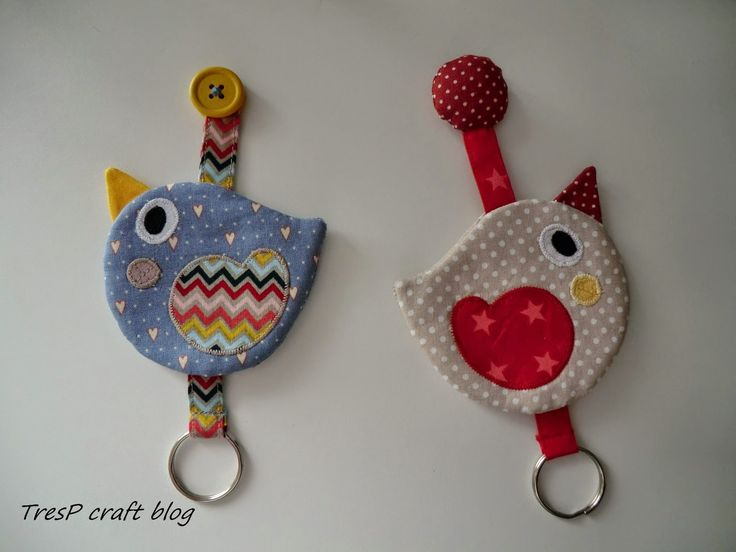TresP craft blog: PAJARITOS LLAVERO