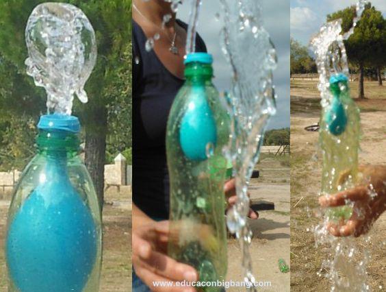Inflar un globo dentro de una botella es un experimento divertido y sencillo para aprender sobre la presión del aire y demostrar que el aire ocupa sitio.