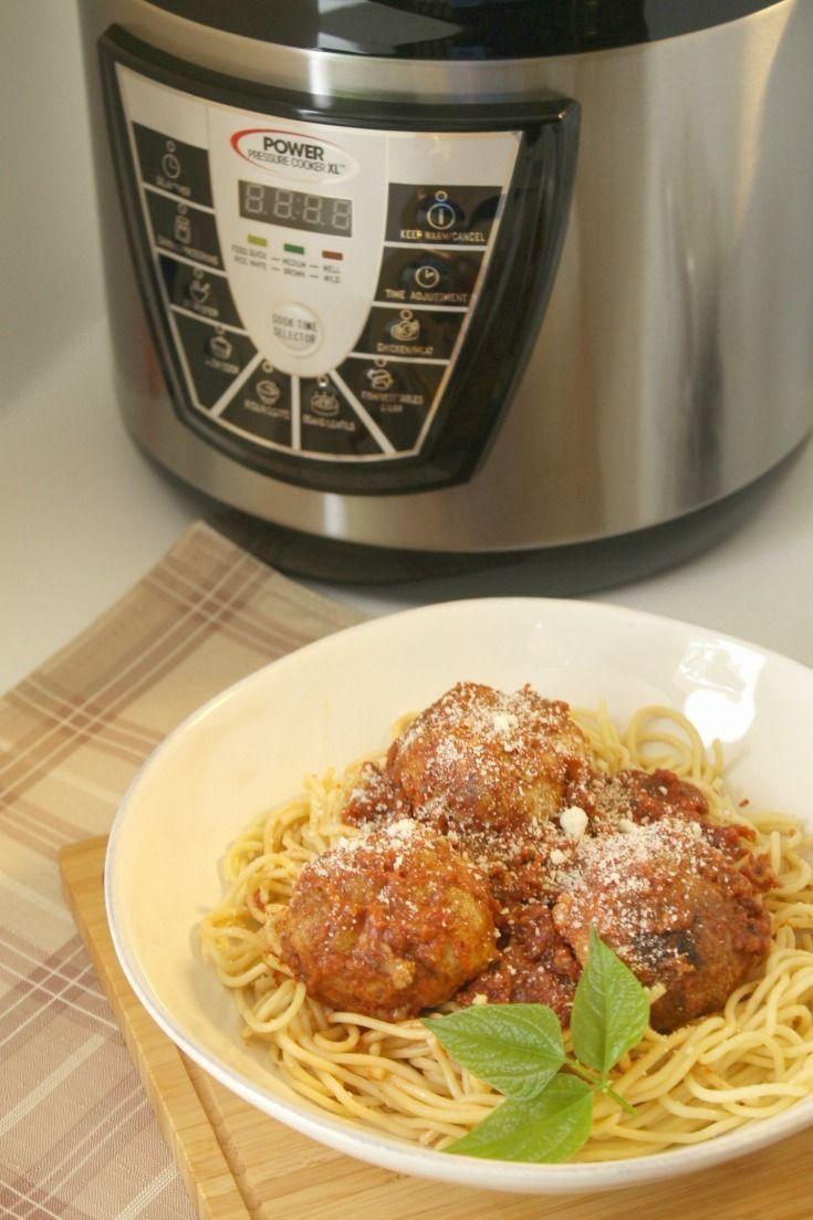 Power Pressure Cooker XL™ Review Plus Mozzarella Stuffed Meatballs Recipe http://moscatomom.com/pressure-cooker-stuffed-meatballs/