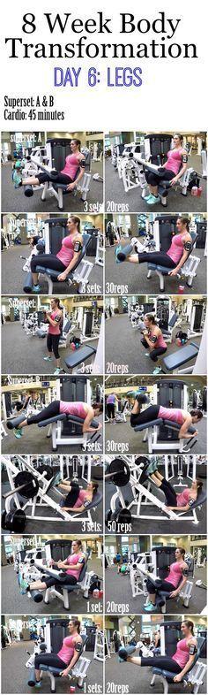 8 Week Body Transformation: Day 6 Legs
