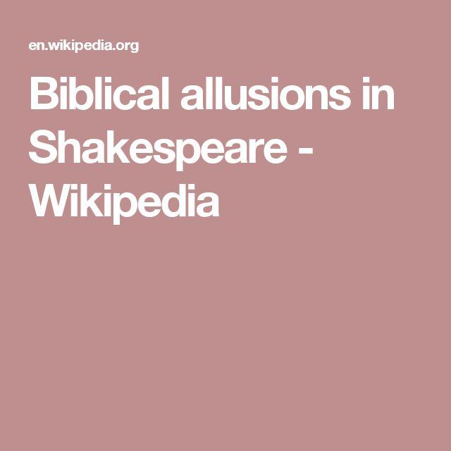 Biblical allusions in Shakespeare - Wikipedia