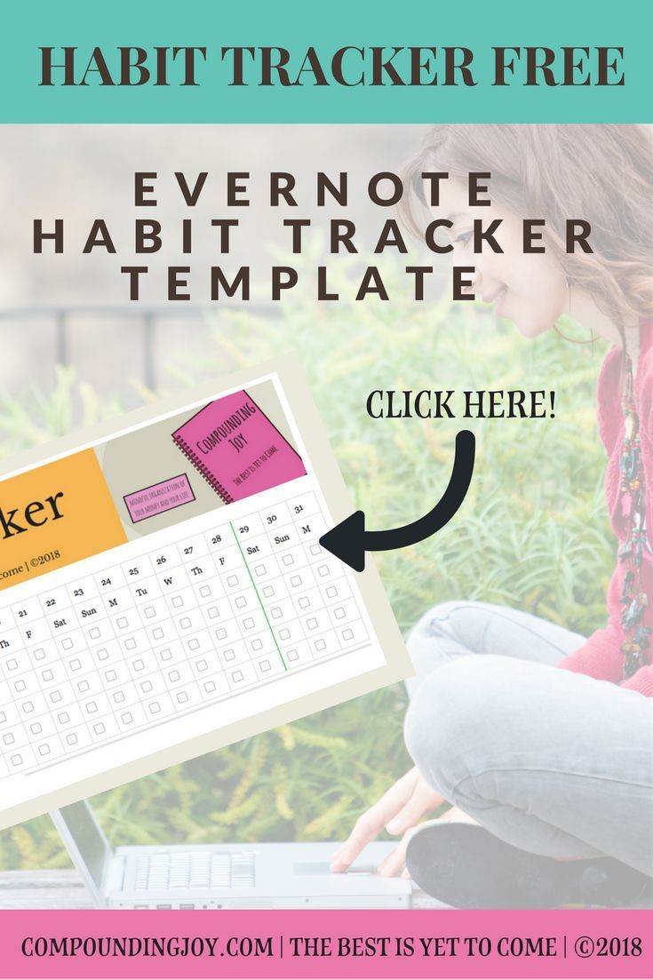 Habit Tracker Free Evernote Template Download Monthly Habit Tracker Compoundingjoy Habittracker Evernote Everno Evernote Template Tracker Free Evernote