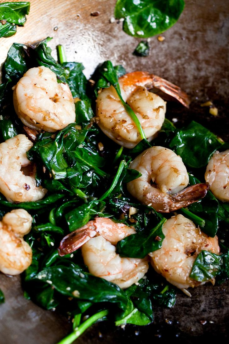 "NYT Cooking: The classic Chinese way to clean shrimp and ensure a succulent flavor and crisp texture, says Grace Young, author of ""Stir-Frying to the Sky's Edge,"" is to use a combination of salt and water, either dousing the shrimp in two rinses of heavily salted water or rubbing the shrimp with salt, then rinsing with water. If you don't eat salt, then just rinse the shrimp wi..."