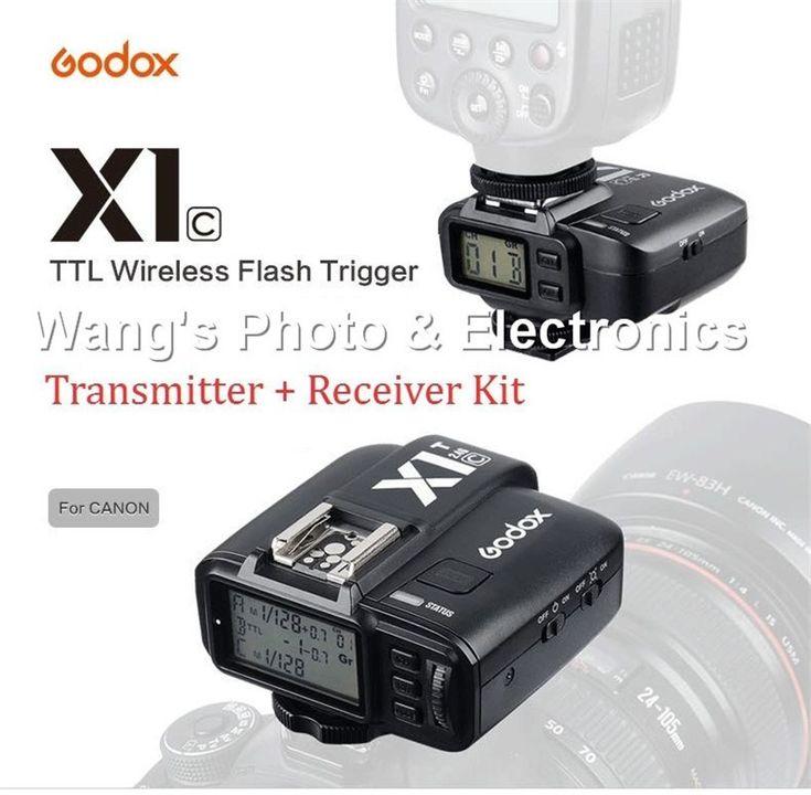 Buy US $85.01  Godox X1C E-TTL II Wireless Flash Trigger Kit for Canon EOS Digital Camera  #Godox #ETTL #Wireless #Flash #Trigger #Canon #Digital #Camera  #Online