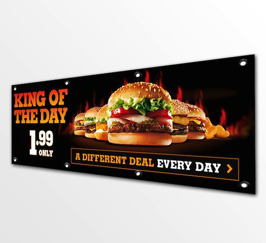 PVC Banner - PVC Banners are available in a 13oz or 16oz 1000 x 1000 denier PVC Banner material. With long lasting vibrant colours, supplied with a double stitched hem as standard they provide long lasting maximum advertising exposure ideal for outdoor applications. With a seamless print up to 3200mm wide available in single a sided printed graphic. #flagsdisplaysNZ