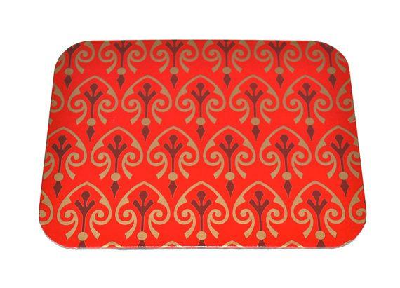 Mousepad Ornament red Untersetzer Ablage handmade von Arsunica, €9.00