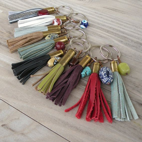 Bullet Tassel Keychains from Recycled leather