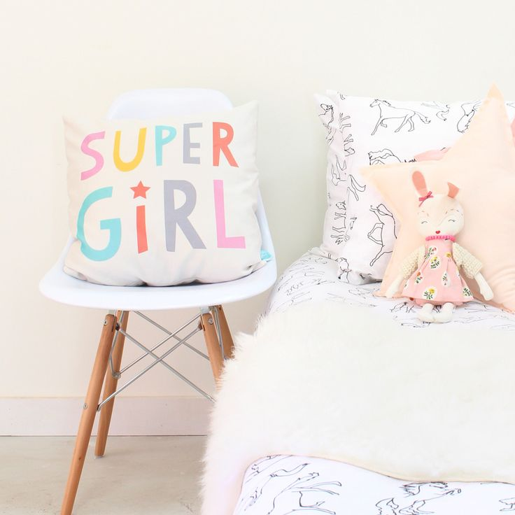 This soft and fuzzy accent pillow is great for the super girl in your life! Made from a super soft velveteen you won't be able to stop snuggling up to and is made from practical polyester to endure as