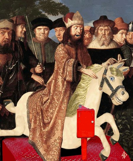 Delightfully Twisted Animated GIFs Made From Parts of Renaissance Paintings