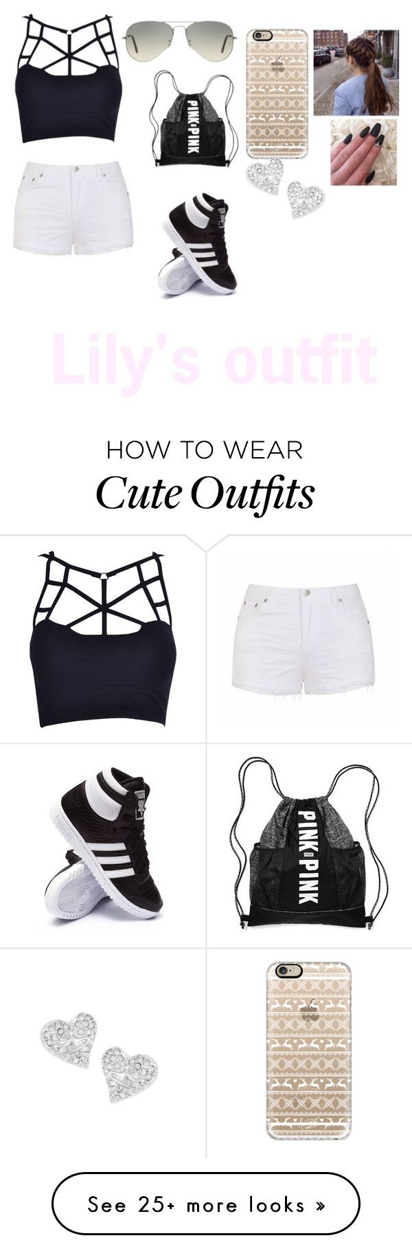 """""""Lily's outfit ch.1"""" by magcon-26mgmt on Polyvore featuring adidas, Casetify, Ray-Ban, Ally Fashion and Vivienne Westwood"""