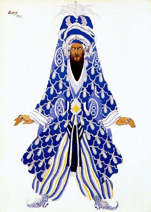 le sultan vindicatif 1922. Leon Bakst