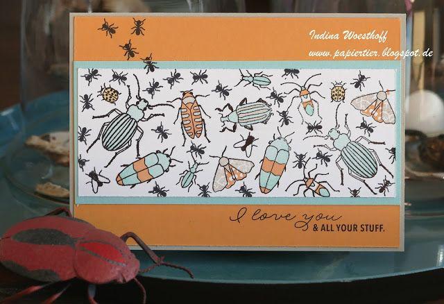 Hier scrapt und stempelt das papiertier: Blog Hop-Farbchallenge: Beetles & Bugs