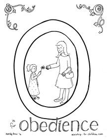 O Is For Obedience Coloring Pages
