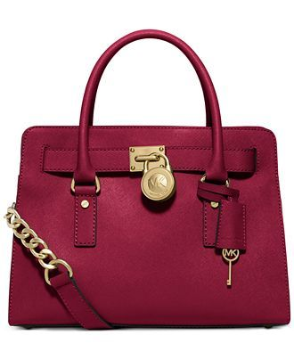 MICHAEL Michael Kors Hamilton Saffiano Leather East West Satchel - Handbags & Accessories - Macy's