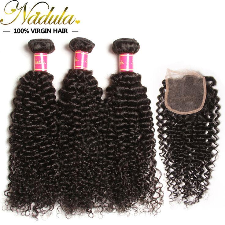 Brazilian Curly Virgin Hair with closure 3Bundles Free/MID/3 Part Brazilian Virgin Hair Cheap Brazilian Hair Weave Bundles