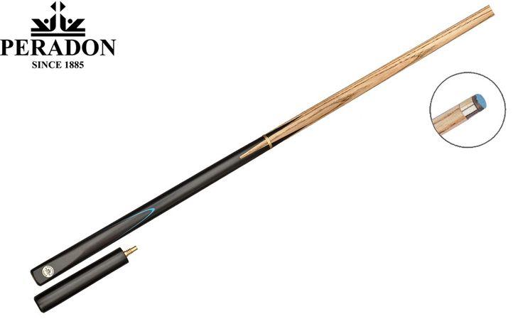 Queue billard Peradon Eagle (3/4+mini butt)  Longueur : 145 cm. Jonction : 3/4 laiton Quick Action. Embout : Collé de 8 mm ou 9 mm Elkmaster. Flèche : Frêne finition huilée. Fût : Ebène. Spécification : Livré avec Mini Butt.