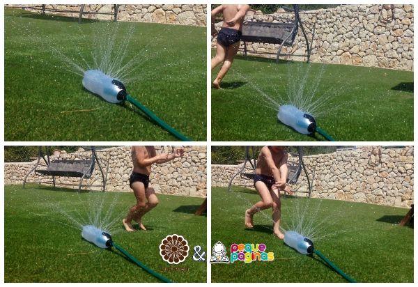 Juegos de agua: Rociador casero!