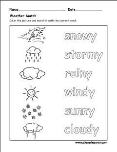 Spring summer autumn winter activity sheet for kindergarten | Easy ...