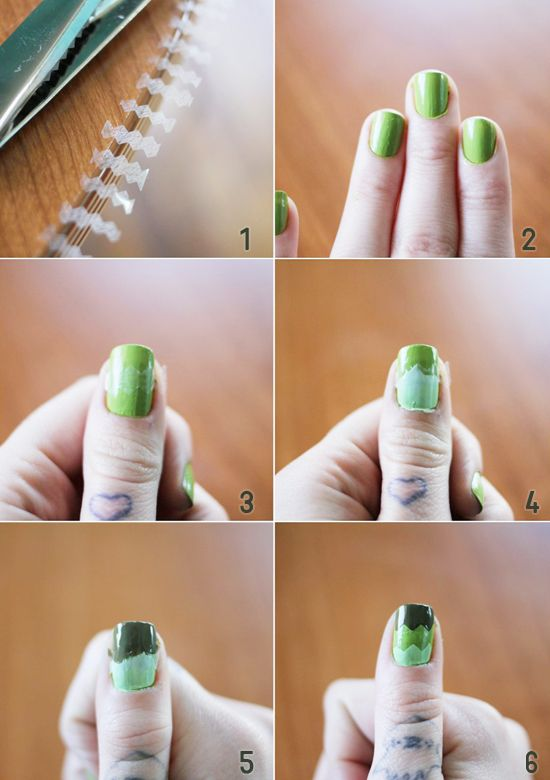 zigzag nail tutorial