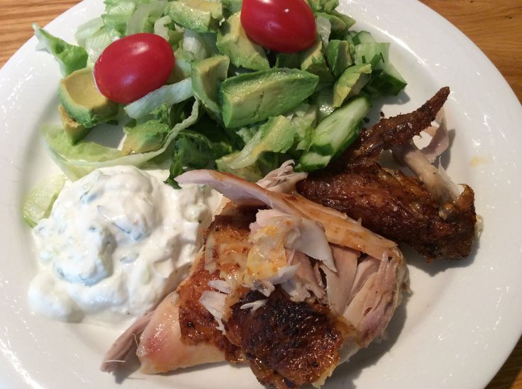 Kyckling och tzatziki