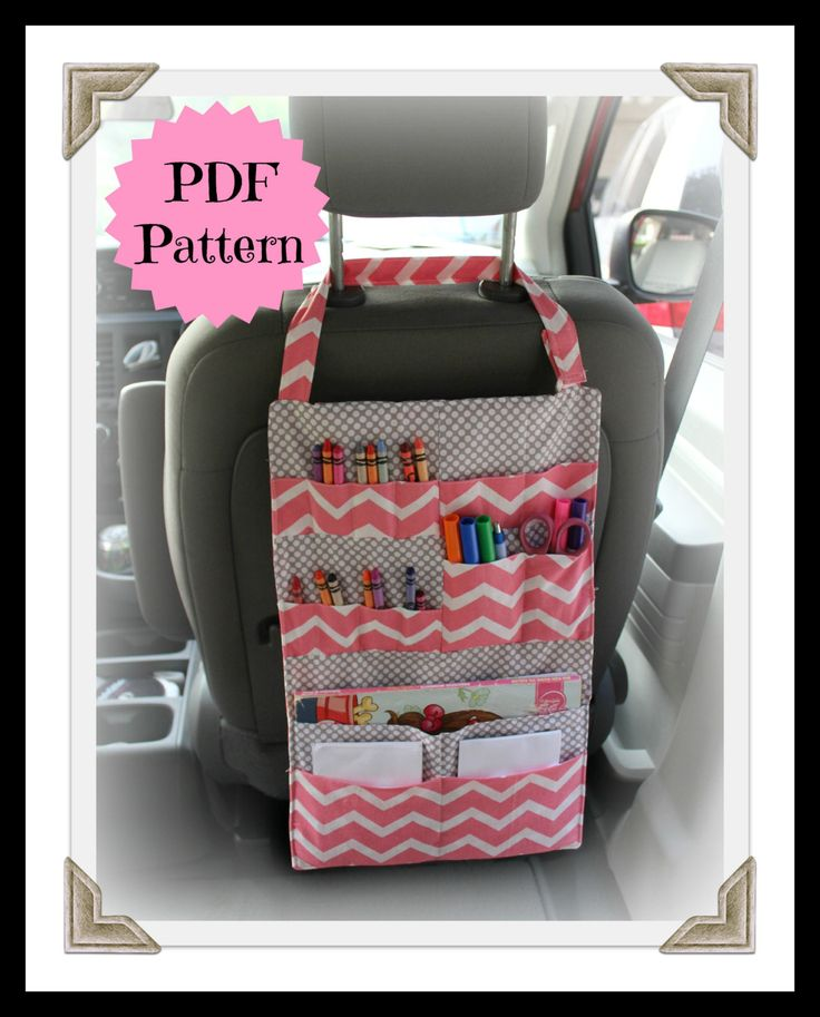 TUTORIAL – Kids Car Organizer Pattern – Activity Portfolio – Crayon Holder – INSTANT DOWNLOAD