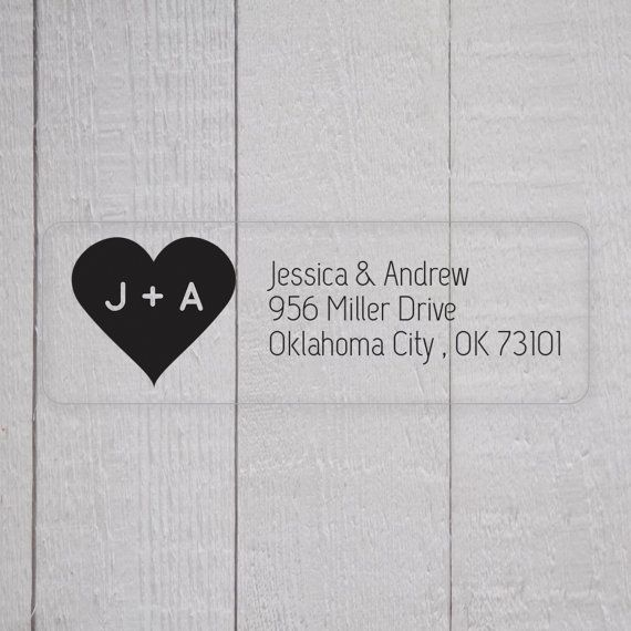 Wedding Invitation Return Address Labels, Clear Wedding Stickers, Transparent Return address stickers for invitations (#307)