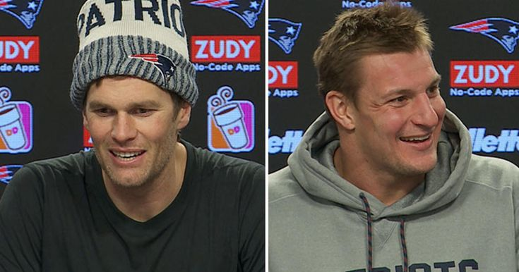 New England Patriots Quarterback Tom Brady and Tight End Rob Gronkowski address the media during their press conferences at Gillette Stadium on Friday, December 29, 2017.