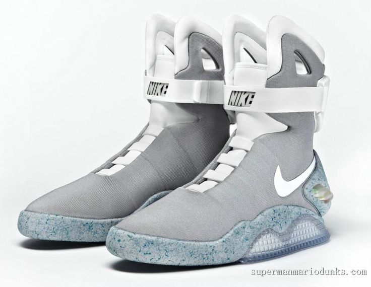 Nike Mag Shoes Glow In The Dark High Tops Grey Cheap Sale-Buy Real ...