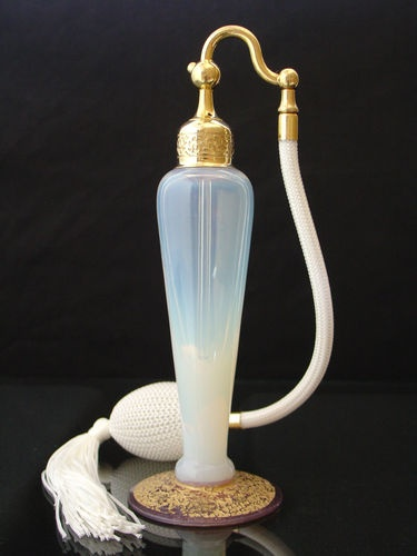 Rare Antique Signed Pearl Opalescent DeVilbiss Atomizer Perfume Bottle