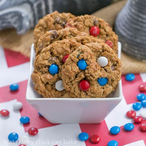 Patriotic Monster Cookies #SundaySupper Recipe on Yummly. @yummly #recipe