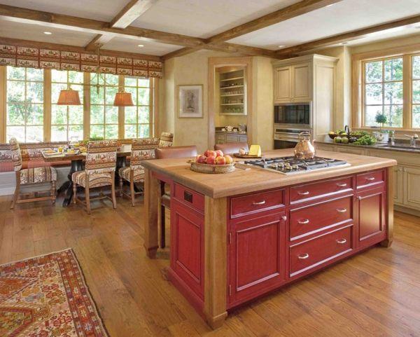 Moderne Küche Mit Kochinsel Landhausküche Gestalten