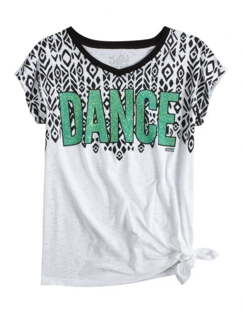 NWT Justice Girls DANCE Tribal Glitter Side Tie Top Tee U Pick! NEW in Clothing, Shoes & Accessories, Kids' Clothing, Shoes & Accs, Girls' Clothing (Sizes 4 & Up) | eBay