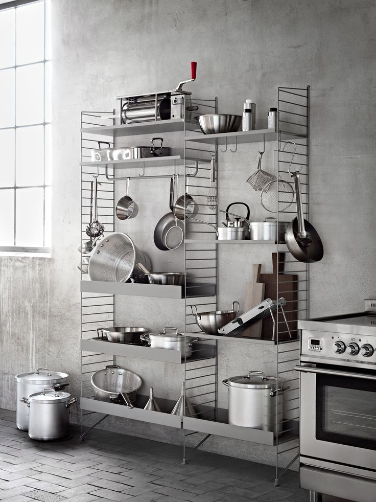 string shelvings for the kitchen - lotta agaton styling...
