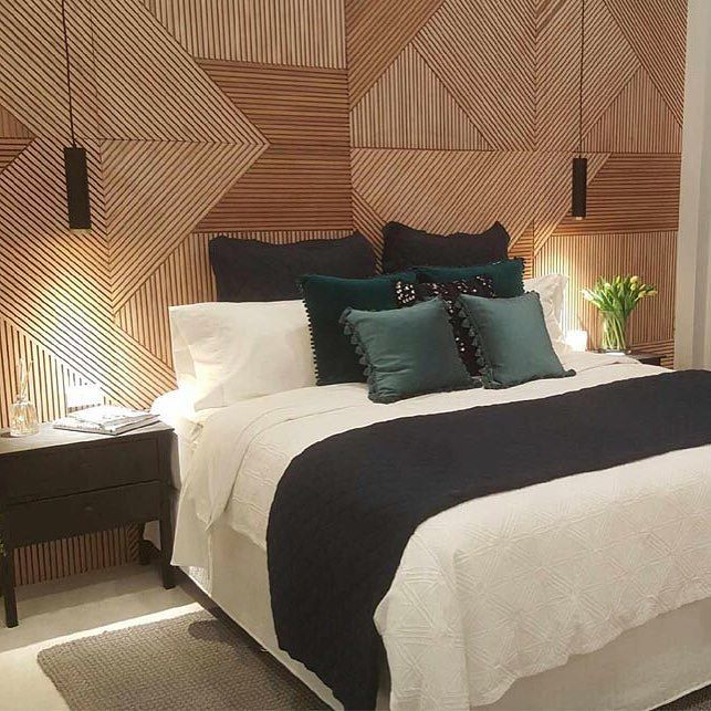 @karlieandwill's stunning timber feature wall - what did you think? #theblockshop #9theblock #roomreveals