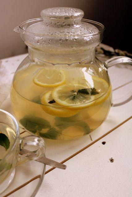 Qchnia Osobista : Herbata miętowa z imbirem i cytryną