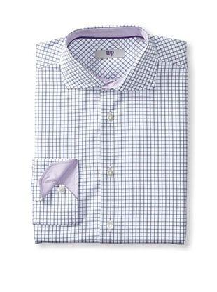 65% OFF WP Men's Check Shirt (Navy)