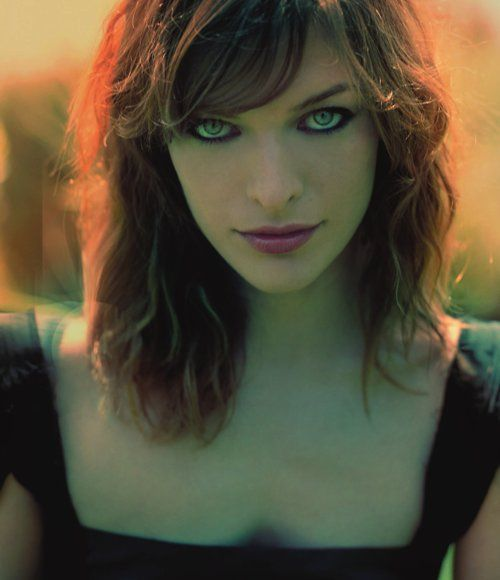 Milla Jovovich by Sheryl Nields perfect look for her. dark face is creepy in some ways but strangely attractive.