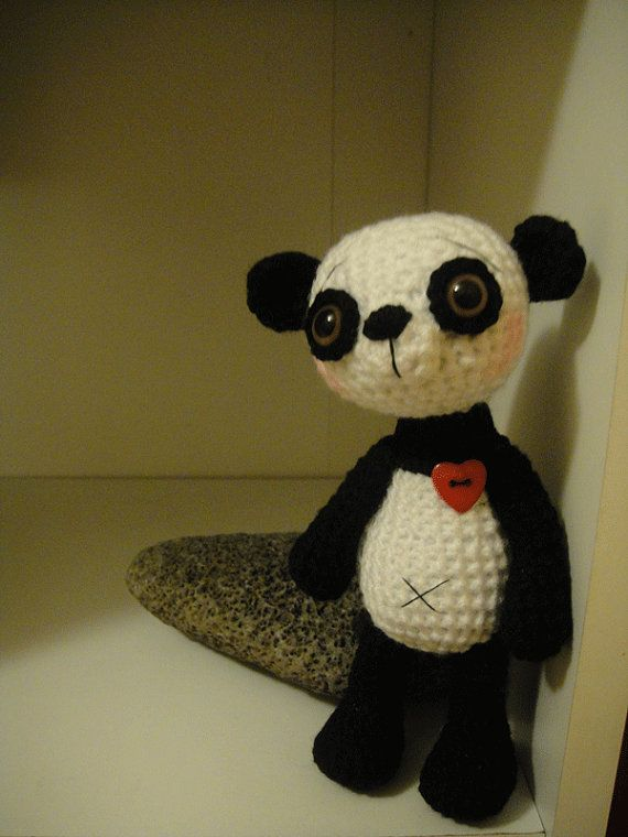 Crochet little panda bear  pattern PDF by teddieswithlove on Etsy, €4.00