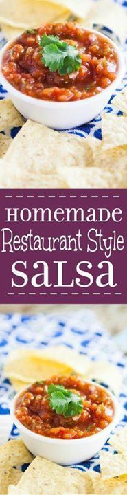 Homemade Restaurant Homemade Restaurant Style Salsa is the perfect dip recipe to feed a crowd. Make your own Homemade Restaurant Style Salsa in minutes thats just as delicious as your favorite Mexican restaurant. Fresh tasty easy and perfect to feed a large crowd. This looks delicious! Recipe : http://ift.tt/1hGiZgA And @ItsNutella  http://ift.tt/2v8iUYW  Homemade Restaurant Homemade Restaurant Style Salsa is the...
