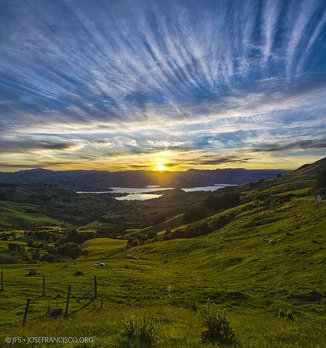 Akaroa Sunrise - Banks Peninsula, New Zealand