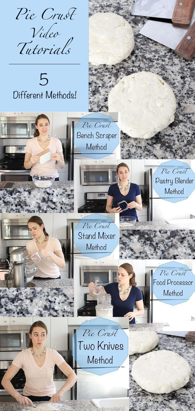 All Butter Pie Crust Video Tutorials for 5 different methods! Get a perfect flakey crust every single time!