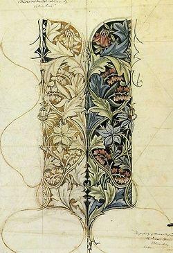 William Morris, sketch made during Bloomsbury time, n.d.