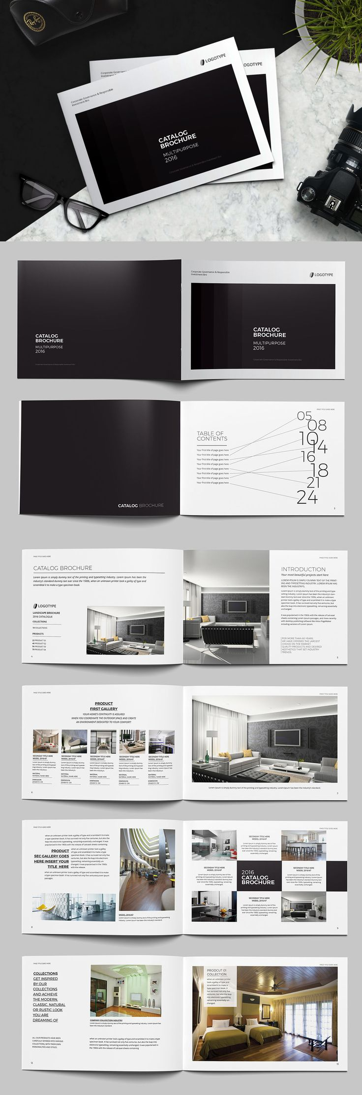 Landscape Catalog Brochure Template InDesign INDD