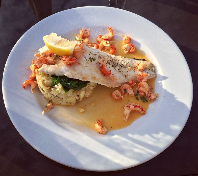 The Squirrel Inn - Sea Bass, crayfish & chive butter sauce. #dinner #seabass #fish #review #foodblog #blog #eatingout #surrey