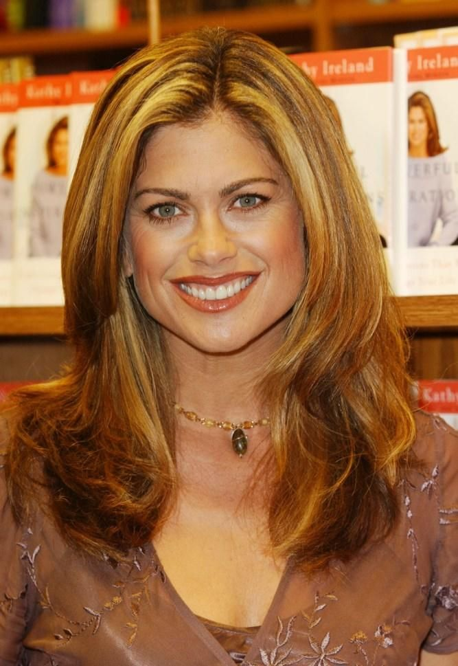 Image result for kathy ireland long layered hairstyles