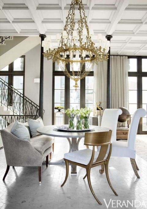 HOUSE TOUR: A Florida Beach House Gets Glammed Up. Veranda MagazineFrench  ChairsDining AreaDining RoomsRound ...
